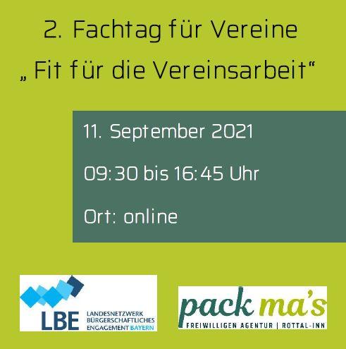"""2. Fachtag für Vereine """"Fit für die Vereinsarbeit"""" (online)"""